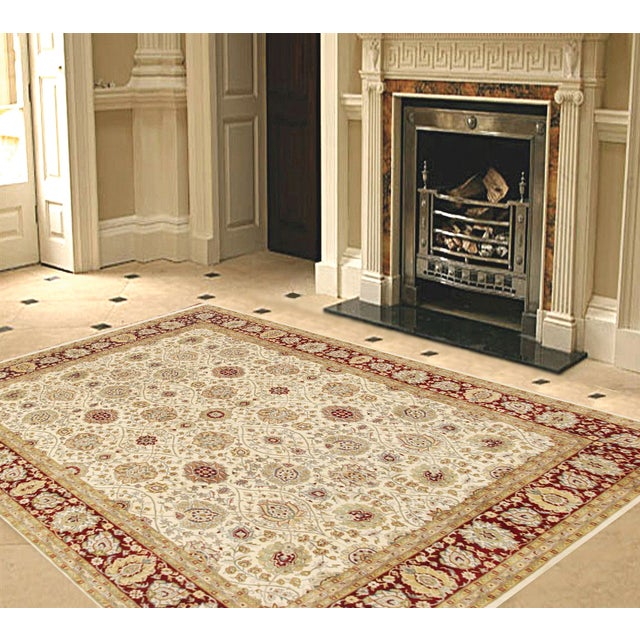 """Pasargad Tabriz Collection Rug - 7'11"""" X 10'10"""" - Image 2 of 2"""