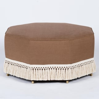 Casa Cosima Istanbul Cocktail Ottoman in Hazel Linen Preview