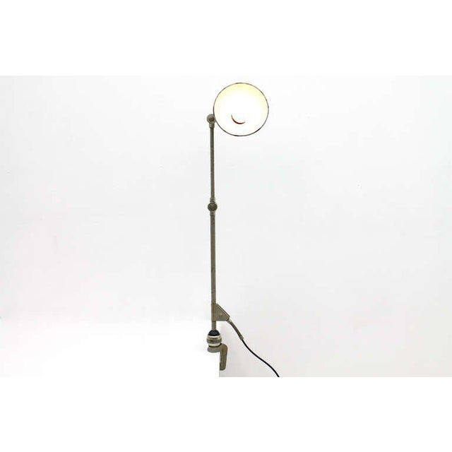 Blue Studio Table Lamp b.a.g Turgi, Switzerland, 1940`s For Sale - Image 8 of 9