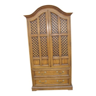 1970s Drexel Wooden Armoire For Sale