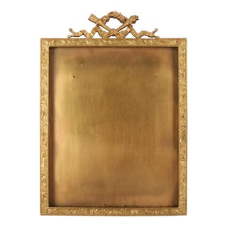 Antique French Classical Empire Ormolu Foliate Frame by B. Altman & Co Ny For Sale