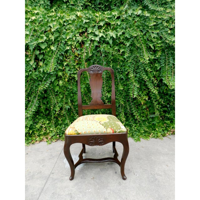 Early 1900s Botanical Cactus Vanity Chair For Sale - Image 10 of 10