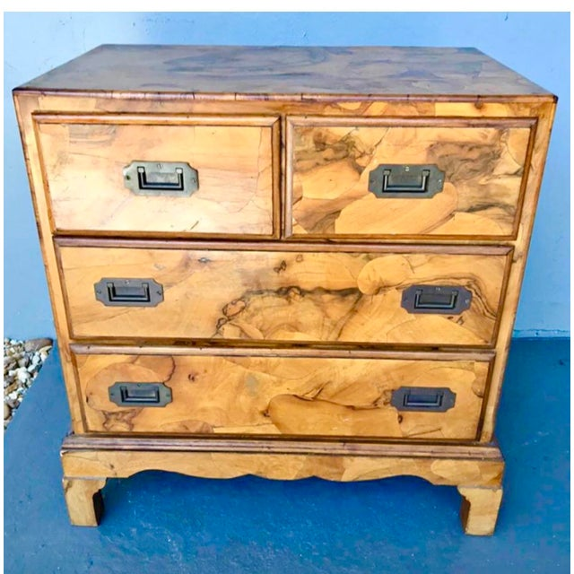 Italian Olive Burl Wood Chest of Drawers For Sale - Image 12 of 12