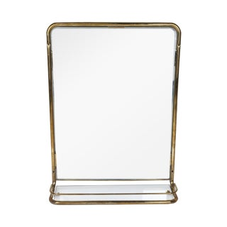 Unusual Brass Mirror from a Ship's Stateroom, circa 1960s