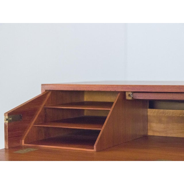 Børge Mogensen Teak Vanity with Fold Out Mirror For Sale - Image 10 of 11