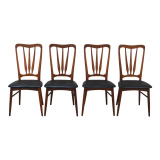 Niels Koefoed for Koefoeds Hornslet Danish Modern Teak Dining Chairs - Set of 4 For Sale
