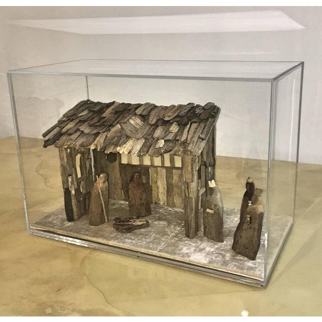 Customizable Nativity Scene in Driftwood and Lucite Object D'Art by AMK for Patricia Kagan - Image 2 of 7
