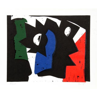 """Charlie Hewitt, """"O,"""" Woodblock For Sale"""