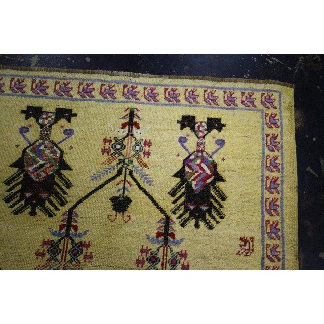 Vintage Turkish Oushak Rug with Modern Style, Yellow Oushak Rug For Sale - Image 4 of 10