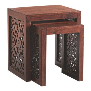 Indian Mahara Nesting Tables - A Pair For Sale