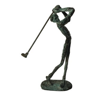 Mid-Century Golfer Sculpture For Sale