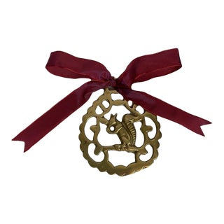 Antique Horse Brass Ornament - Squirrel For Sale