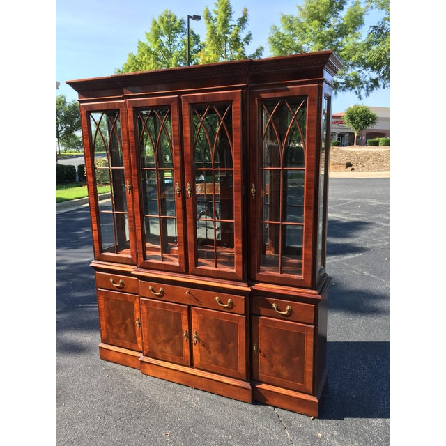 Ethan Allen Breakfront China Cabinet - Image 7 of 8