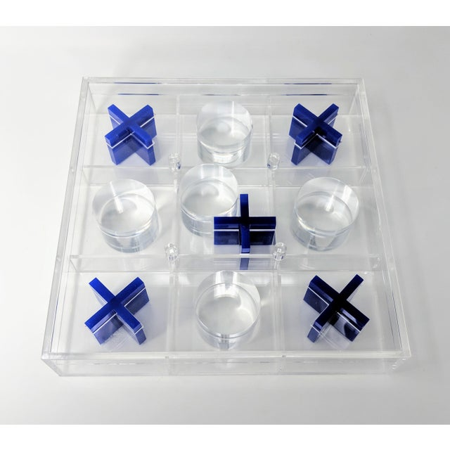 Lucite Tic-Tac-Toe Game Board For Sale - Image 9 of 13