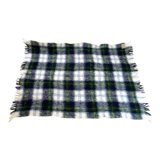 Vintage Mid-Century Glentana Mohair Wool Throw For Sale