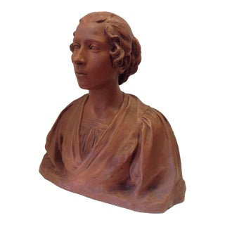 19th Century Life-Size Terracotta Bust For Sale