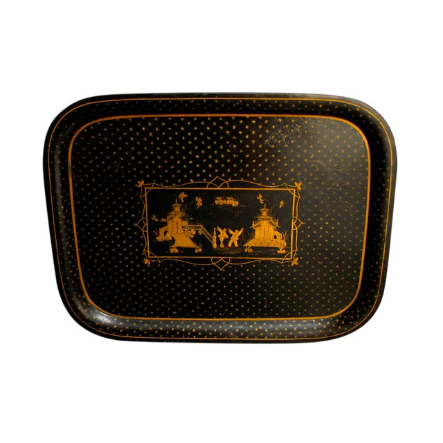 Chinoiserie Tole Serving Tray - Image 1 of 4