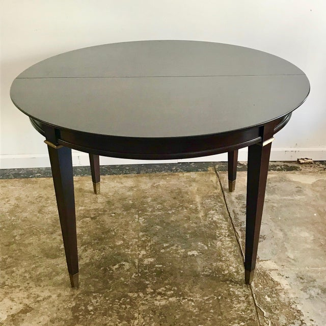 Metal 20th Century Neoclassical Round Mahogany Dining Table For Sale - Image 7 of 7