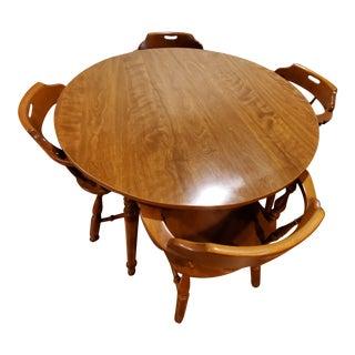 Ethan Allen Heirloom Nutmeg Maple Dining Room Set For Sale
