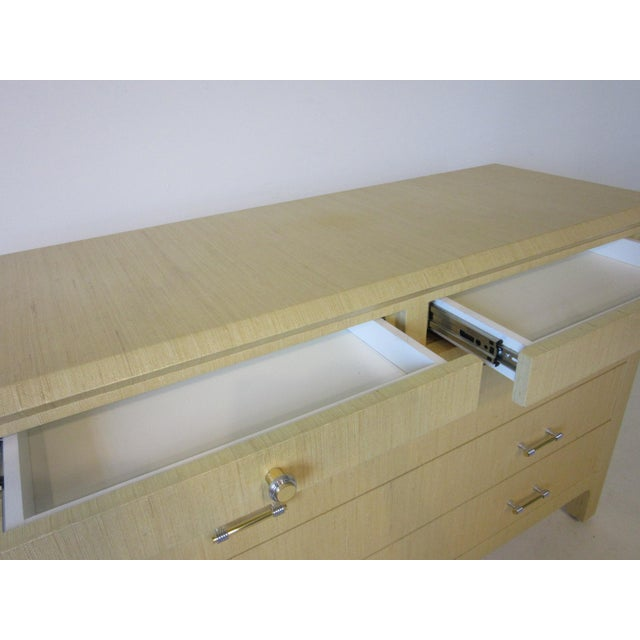 Linen Wrapped Chest or Dresser Chest For Sale In Cincinnati - Image 6 of 10