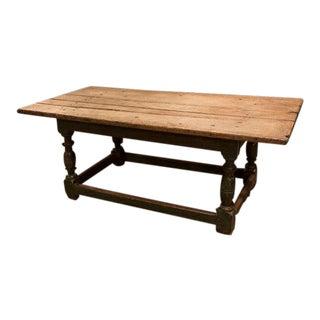 Early 18th Century Oak Farmhouse Cocktail Table W/Original Finish For Sale