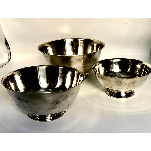 Silver Plate Paul Revere Bowls - Set of 3 - Image 4 of 10