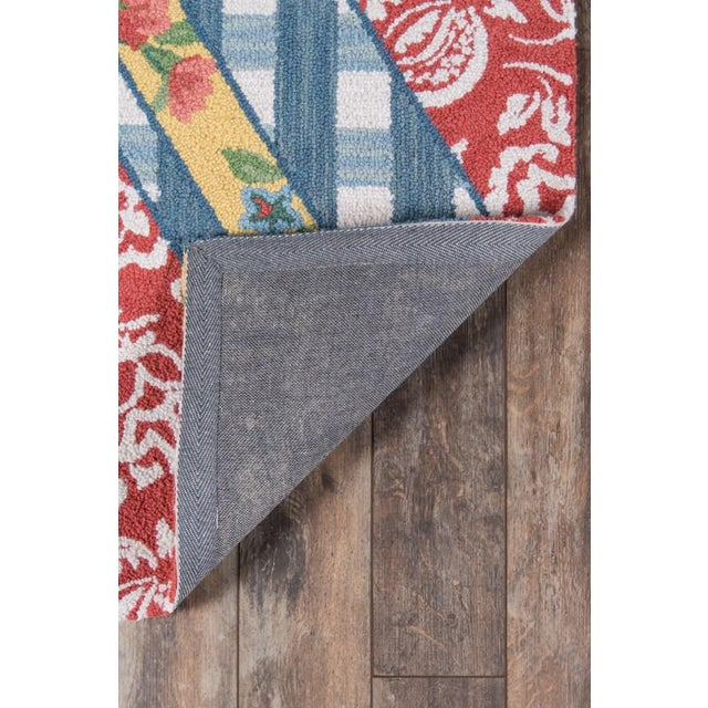 """2010s Madcap Cottage Summer Garden Think of England Multi Area Rug 3'6"""" X 5'6"""" For Sale - Image 5 of 8"""
