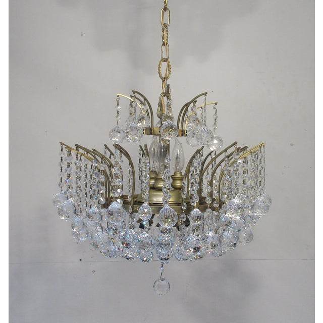 Antique Chandelier with Crystal Balls - Image 4 of 7