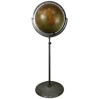 Telescoping Adjustable World Globe by Rand McNally Chicago For Sale