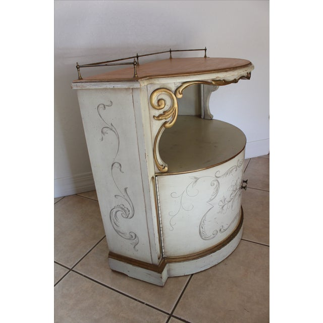 Karges Painted Demilune Nightstand - Pair - Image 6 of 11