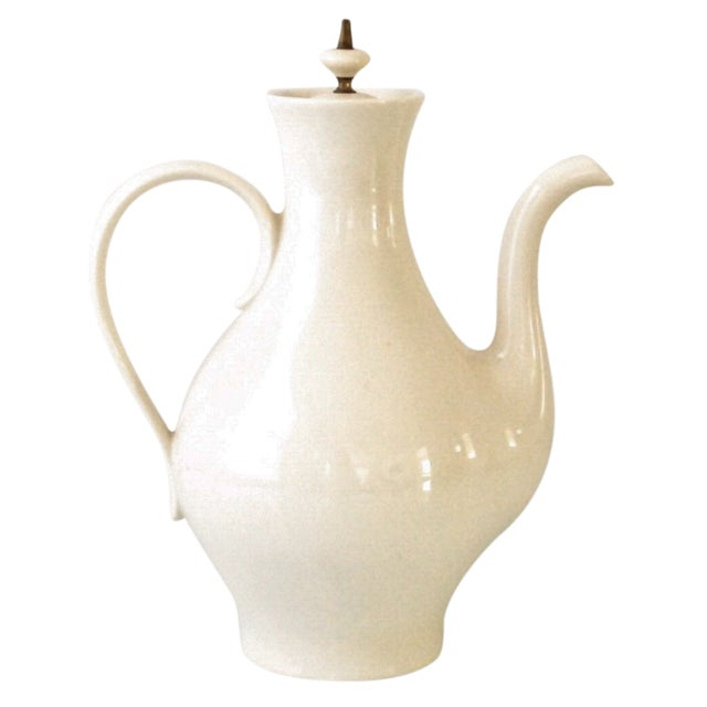 Mid-Century Modern Porcelain Coffee Pot For Sale