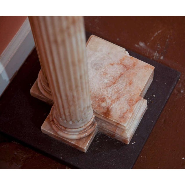 Neoclassical Alabaster Column Console For Sale - Image 7 of 7