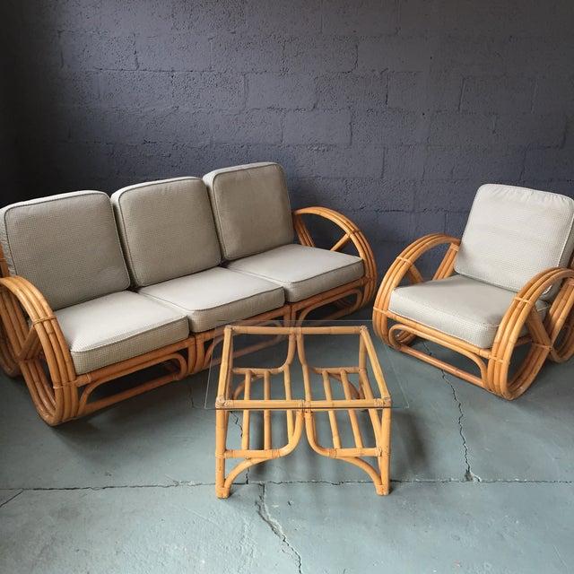 Bamboo Sofa on Vintage Ficks Reed Rattan Furniture
