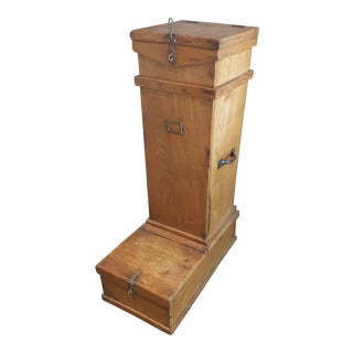 English Teak Cricket Container For Sale