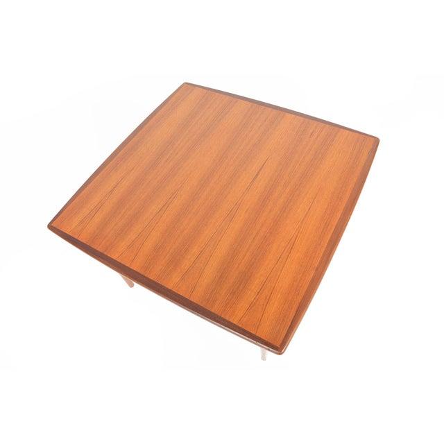 Mid-Century Danish Modern Square Teak Coffee Table - Image 2 of 8