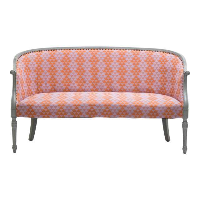 Early 20th Century Milton Textiles Early 20th Century Antique Settee For Sale