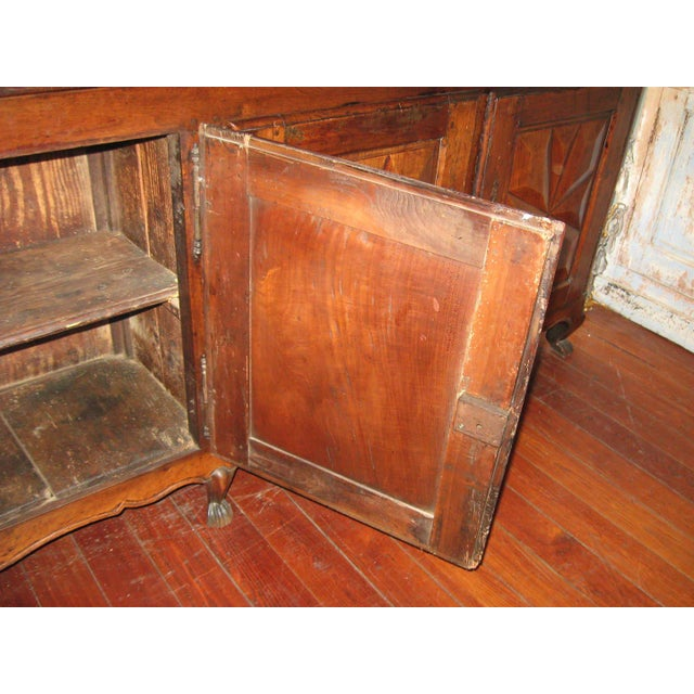 French Antique Sideboard in Walnut, 18th Century For Sale - Image 11 of 12