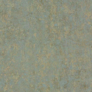Cole & Son Salvage Wallpaper Roll - Antique Gold & Green For Sale