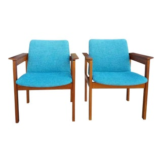 Vintage Jens Risom Chairs- a Pair For Sale