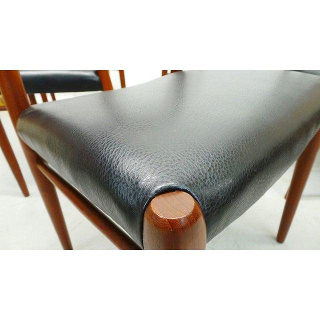 Black 1960s Vintage J.L. Moller Danish Modern Black Dining Chairs- Set of 6 For Sale - Image 8 of 9