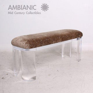 Mid-Century Modern Lucite Bench Attributed to Karl Springer Preview