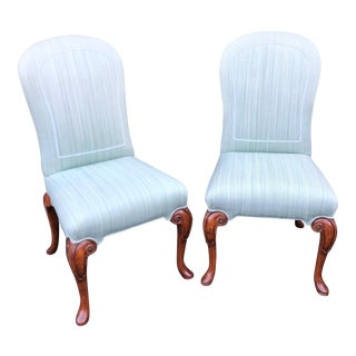 Vintage Dennis & Leen Designer Upholstered Side Chairs - a Pair For Sale