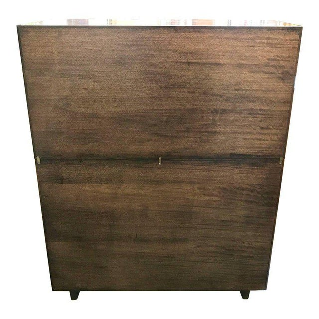 1950s Mid-Century Modern Milo Baughman for Drexel Perspective Mindoro Wood China Hutch For Sale - Image 11 of 12