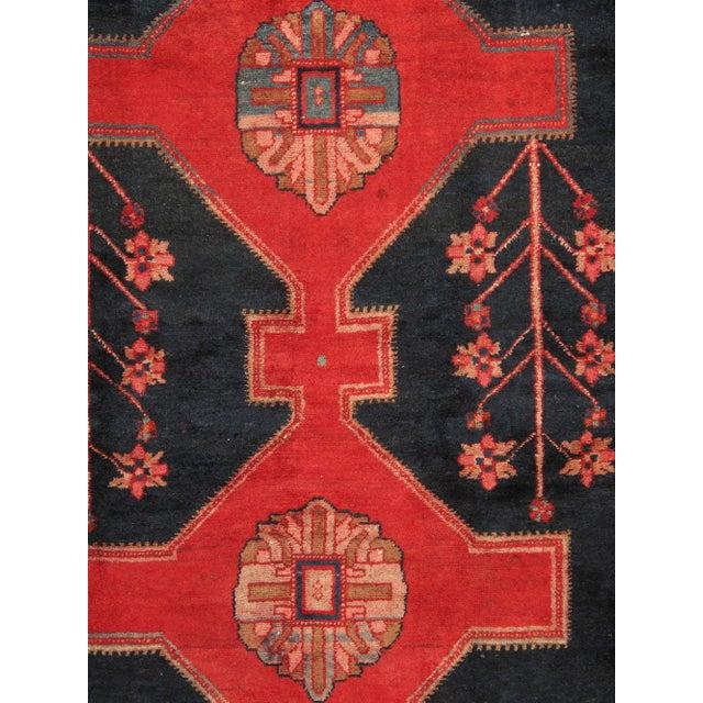 """Vintage Hamadan Wool Area Rug- 5' x 7' 4"""" - Image 2 of 3"""