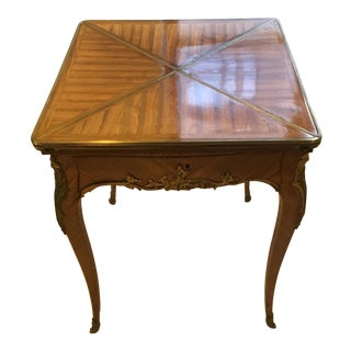19th Century Paul Sormani Folding Card Table