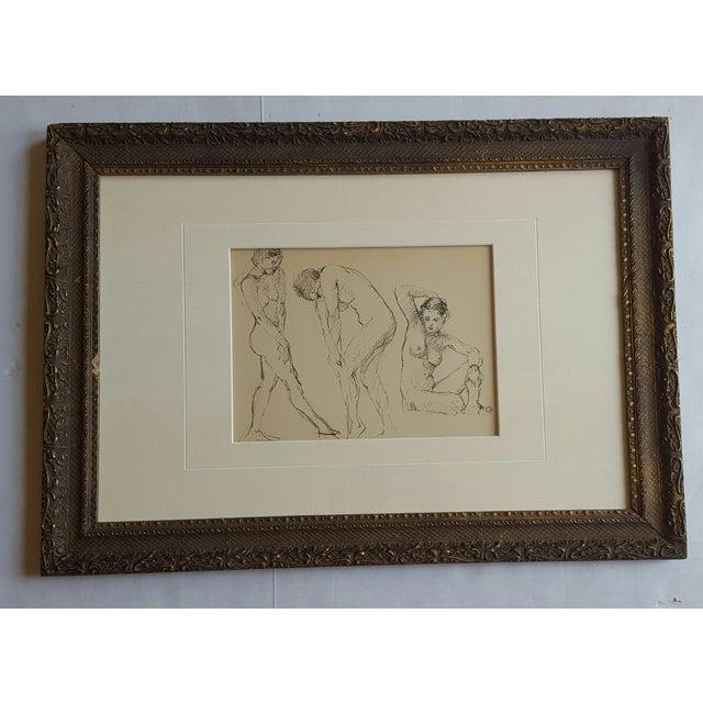 Female Nude Sketch by Edward Goldman - Image 2 of 3