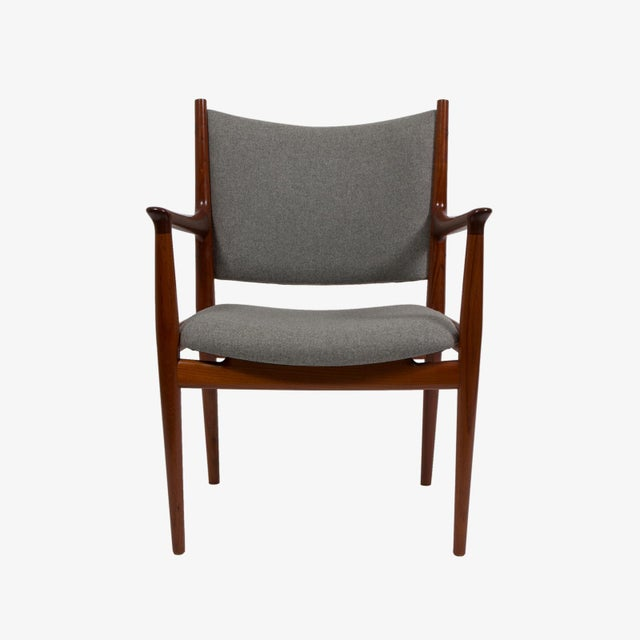Hans Wegner Pair of Hans Wegner Teak Armchairs For Sale - Image 4 of 7
