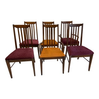 Vintage High Back Broyhill Dining Chairs - Set of 6 For Sale