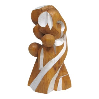 Abstract wood sculpture by Arthur Rossfield For Sale