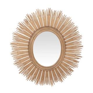 Large Gold Regency Sunburst Wall Mirror For Sale